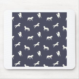 Horse Print Navy Mouse Pad