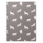 Horse Print Taupe Notebook