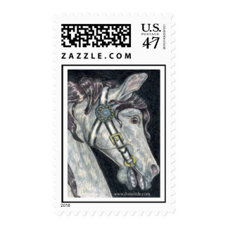 'Horse Profile' Merry-Go-Round US Postage Stamp