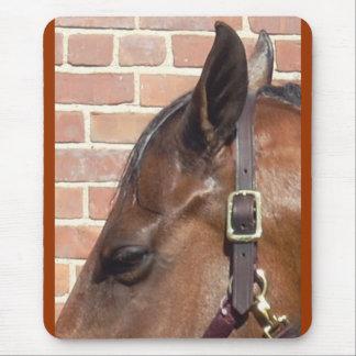 horse profile mouse pad