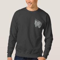 Horse Profile Pair Embroidered Sweatshirt