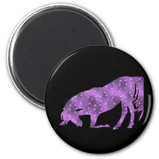 Horse Purple Star Silhouette Magnet