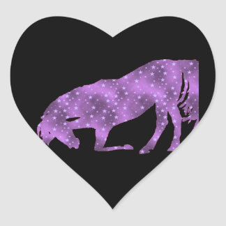 Horse Purple Star Silhouette Sticker