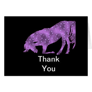 Horse Purple Star silhouette Thank You Card