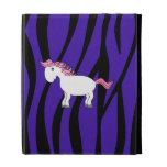 Horse purple zebra stripes iPad case