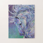 "Horse Puzzle - Spellbound<br><div class=""desc"">This artwork,  titled ""Spellbound"",  is from Michelle Bostock's ""Horseland"" collection.  Other horses are available on puzzles too:  Beach Biscuit,  Cumulus,  Dauntless,  Golden Gait,  Rockstar,  Sugar Gaze and Whisper of a Dream.  Collect all 8!</div>"