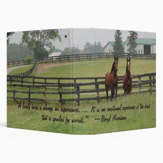 Horse Quotation Binder 1