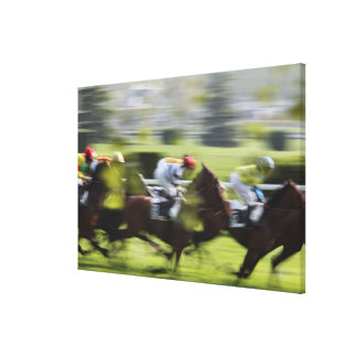 horse race 2 canvas print