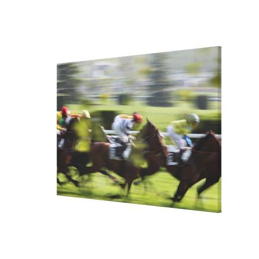 horse race 2 canvas print