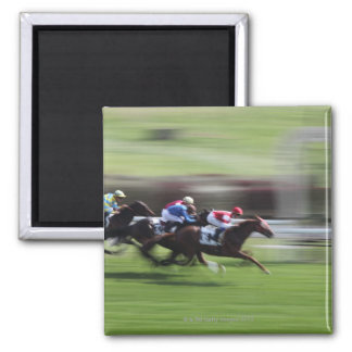 horse race 2 inch square magnet