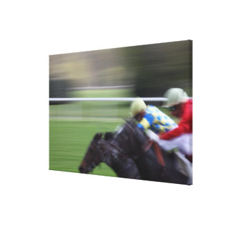 horse race 3 canvas print