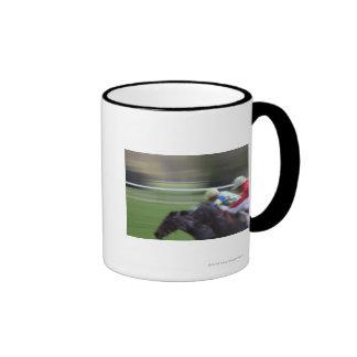 horse race 3 ringer mug