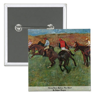 Horse Race Before The Start By Edgar Degas Pin
