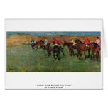 Horse Race Before The Start By Edgar Degas Greeting Cards