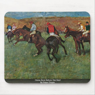 Horse Race Before The Start By Edgar Degas Mouse Pad