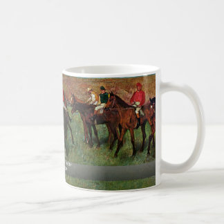 Horse Race Before The Start By Edgar Degas Classic White Coffee Mug