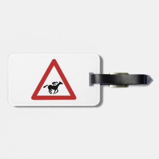 Horse Race Crossing, Traffic Sign, UAE Bag Tags