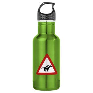 Horse Race Crossing, Traffic Sign, UAE Stainless Steel Water Bottle