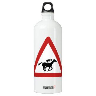 Horse Race Crossing, Traffic Sign, UAE Water Bottle
