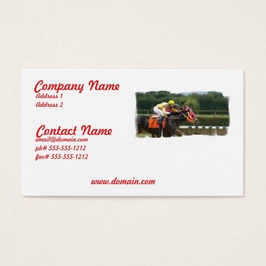 Horse Race Finish Business Card
