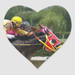 Horse Race Finish Heart Sticker
