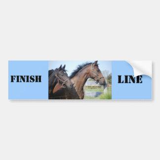 Horse Race Finish Line Bumper Sticker