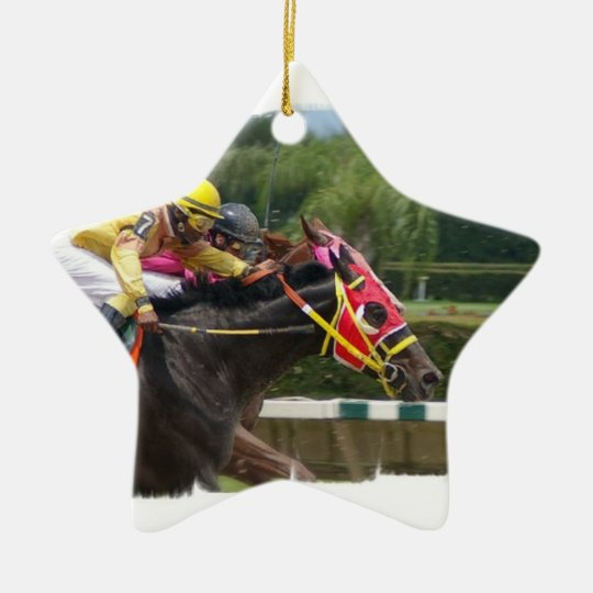 Horse Race Finish Ornament