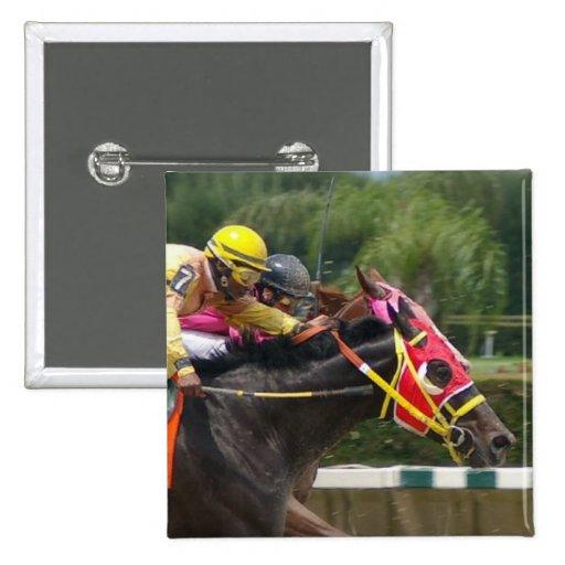 Horse Race Finish Square Pin