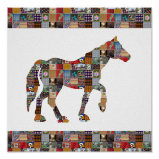 HORSE Race HA Animal Artistic LOWprice NVN507 kids Poster