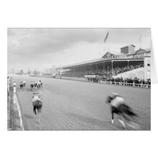 Horse Race in New Orleans, 1906 Card