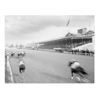 Horse Race in New Orleans, 1906 Postcard
