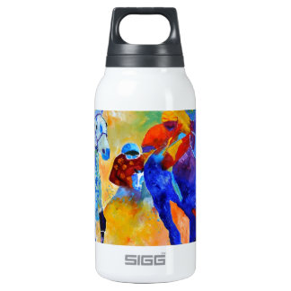 Horse race insulated water bottle