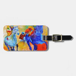 Horse race travel bag tags