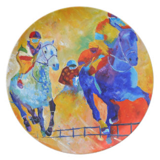 Horse race party plate