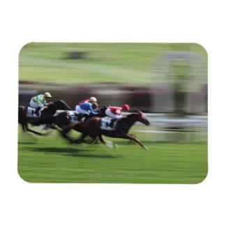 horse race rectangular photo magnet