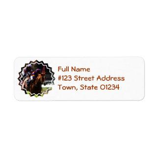 Horse Race Return Address Label