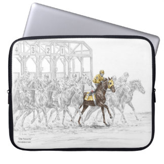 Horse Race Starting Gate Computer Sleeve
