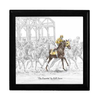 Horse Race Starting Gate Keepsake Box