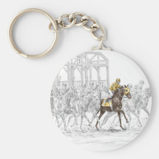 Horse Race Starting Gate Keychain