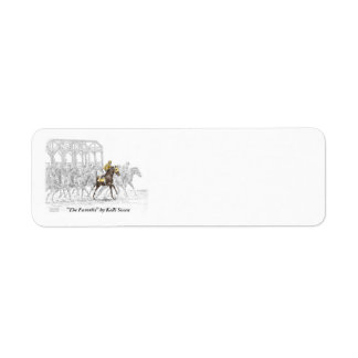Horse Race Starting Gate Label