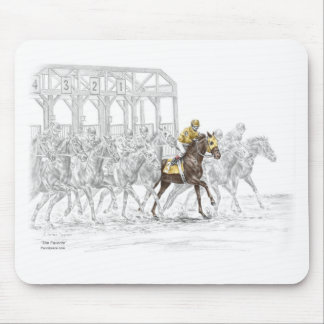 Horse Race Starting Gate Mouse Pad