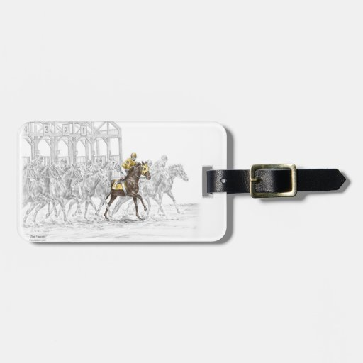 Horse Race Starting Gate Tag For Bags