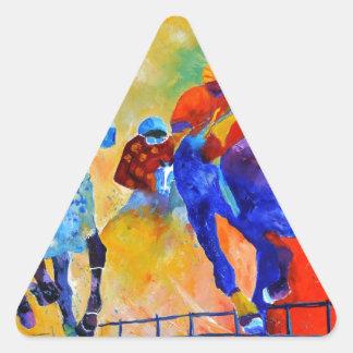 Horse race triangle sticker