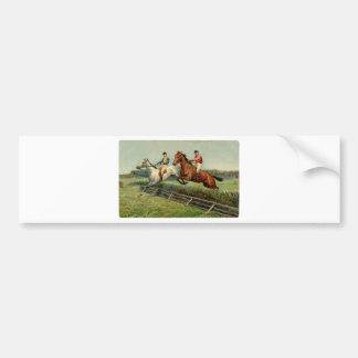 horse race vintage design bumper sticker