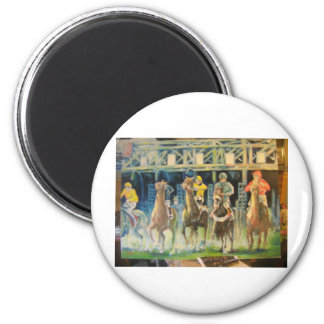 horse races by Hart 002 2 Inch Round Magnet