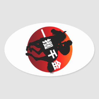 horse racing2 oval sticker