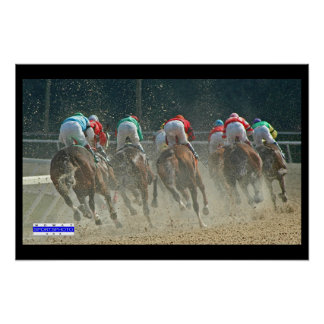 Horse Racing 001 Rear Mowat SpPh Poster