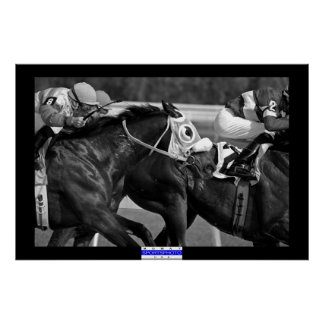 Horse Racing 002 B&W Mowat SpPh Poster
