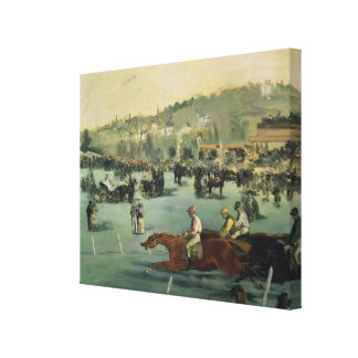 Horse Racing, 1872 Canvas Print
