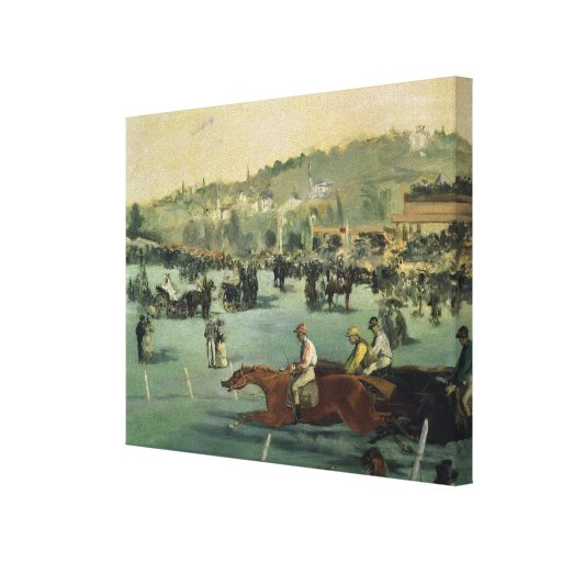 Horse Racing, 1872 Gallery Wrap Canvas